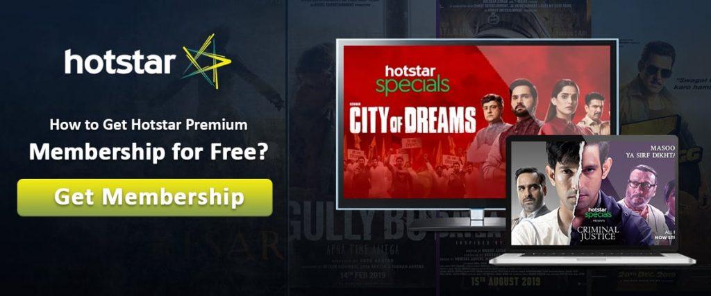 Hotstar Premium Free