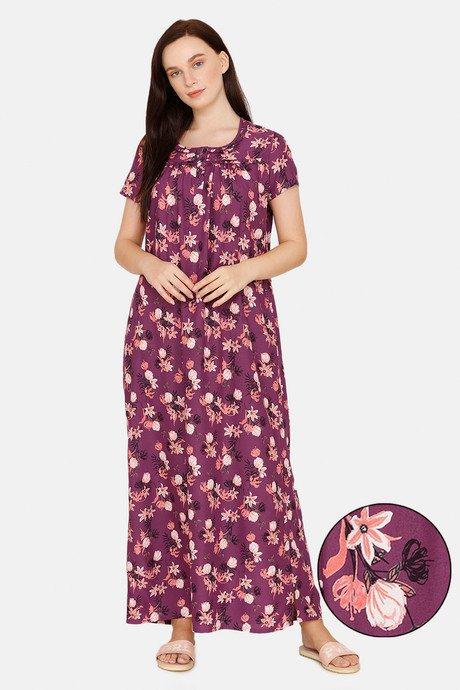 Zivame Woven Full Length Nightdress